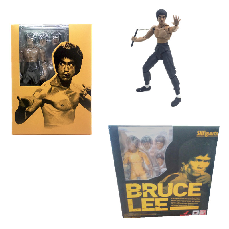 15cm Two models King of Kung Fu Bruce Lee Figure PVC Action Figure Collection Model Toys Gift image