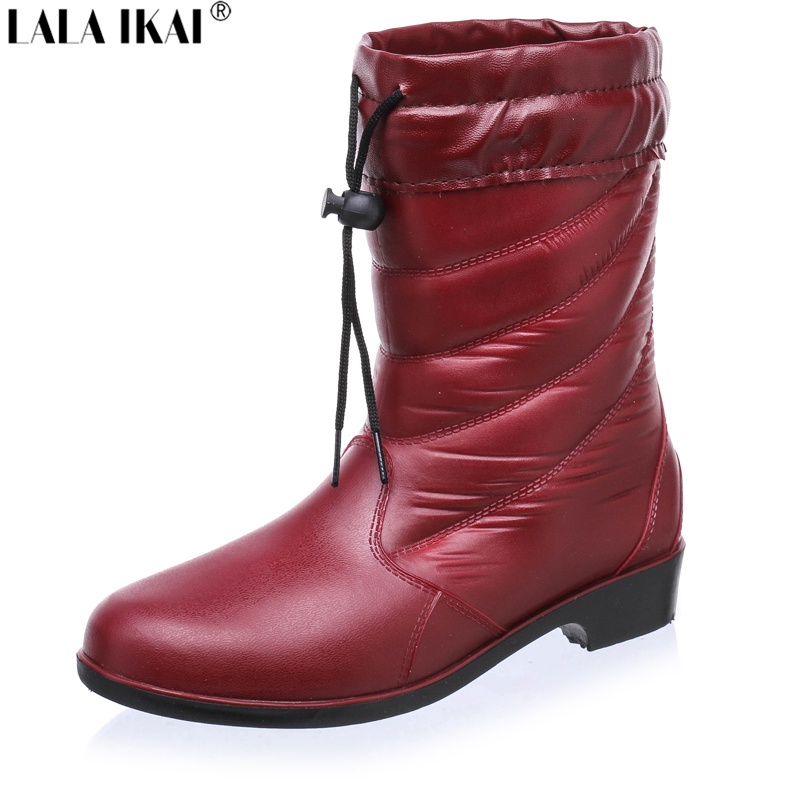 2016 autumn winter rubber boots for waterproof