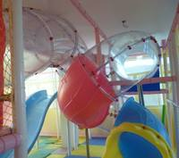 Customized Made Outdoor Indoor Playground Slide Transparent Tube Slide Toys Amusement Tube Sliding Barrel