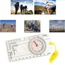 Акриловый компас-увеличитель, нейлоновый ремешок, водонепроницаемые точные измерительные весы, линейка для кемпинга, туризма, альпинизма, использования для выживания