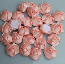 20 sztuk worek śniegu zębów kolor róże Handmade średnica 3 5Cm satynowa wstążka w róże kwiaty DIY dla Make akcesoria do bukietów ślubnych tanie tanio Jedwabiu YY10214 Sztuczne Kwiaty Ślub Róża PLYUGO Kwiat Głowy 20pieces Satin rose Ribbon Snow tooth color