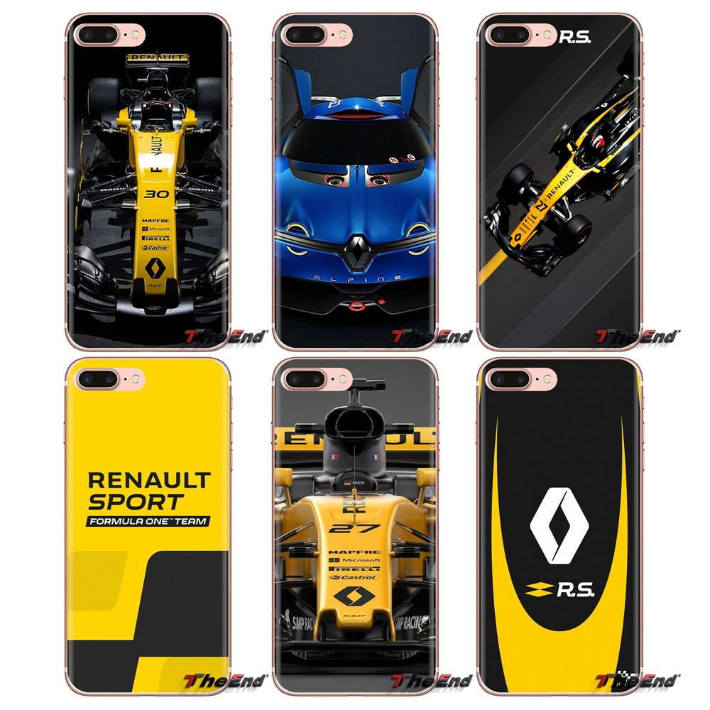 Renault rs car Transparent Soft Cases Covers For iPod Touch Apple iPhone 4 4S 5 5S