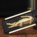 Correa para hombre 2016 del Diseñador de la marca de lujo de negocios cocodrilo hebilla del cinturón cinturones de cuero genuino para los hombres Jeans cinturones cinto masculino