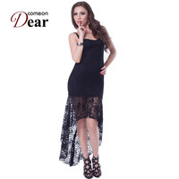 RB7978 Comeondear Women Summer Dress 2017 Black Color Lace Sexy Clothes Women Wholesale Retail Maxi Dress