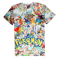 Fashion Pokemon Colection 3D Print T-shirt Pikachu Charizard Cotton Unisex Tee Shirts Short Sleeve Anime Casual Homme Loose Tops