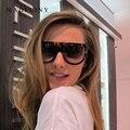 New moda óculos de sol das mulheres de alta qualidade de acetato de topo plano forma escudo óculos de sol do vintage cat eye óculos oculos ma101