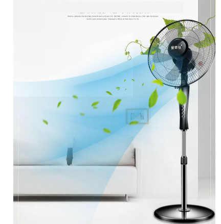 Ventilador doméstico ventilador de chão vertical mecânica dormitório três 60 16''Electric minutos de tempo, controle remoto grande Angular 5 fornecimento de ar