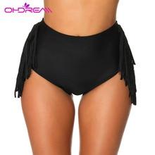 OHDREAM Women Bikini Panties  High Waist Swimwear Bottom Bathing Suit Beach Swim Briefs Side Tassel Bikini Panties Beachwear недорого