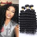 8А Бразильский Глубокая Волна Девы Волос 100% Дешевые Бразильские Вьющиеся Человеческих Волос Weave Bundle GraceLength Бразильский Вьющиеся Волосы Девы