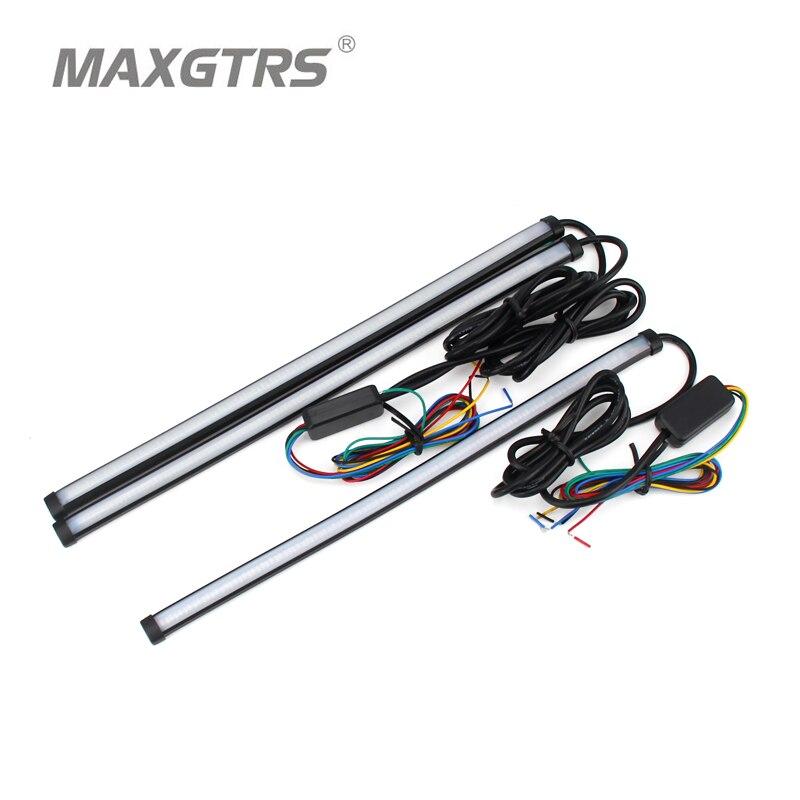Auto Flexible Switch LED Knight Rider Streifen Licht Für Scheinwerfer Sequentielle Blink DRL Fließende Bernstein Blinker