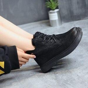 Image 3 - 2018 outono/inverno nova Martin botas para as mulheres com o versátil estudantes com retro Britânico estilos Europeus populares das Mulheres botas