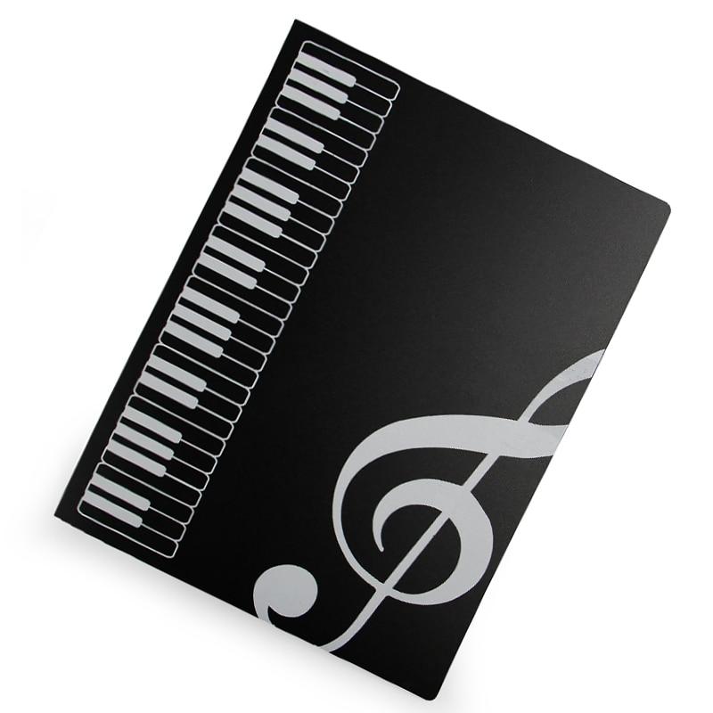 A4 Music book folder / Band Choral Folder white black цены
