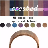 CRESTED Milanese Loop Strap For Apple Watch Band 42 Mm 38 Link Bracelet Stainless Steel Band