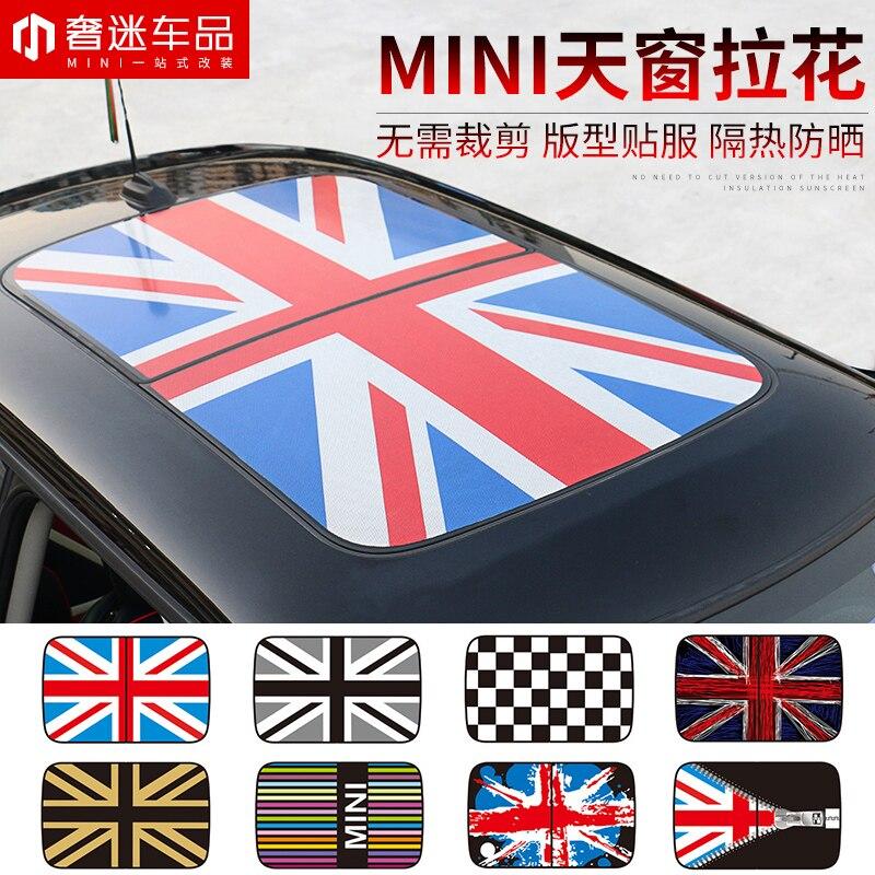 1 pièces voiture lucarne drapeau de riz guirlande voiture autocollants 3D KK voiture style accessoires emblème Badge autocollants pour Mini Cooper countryman