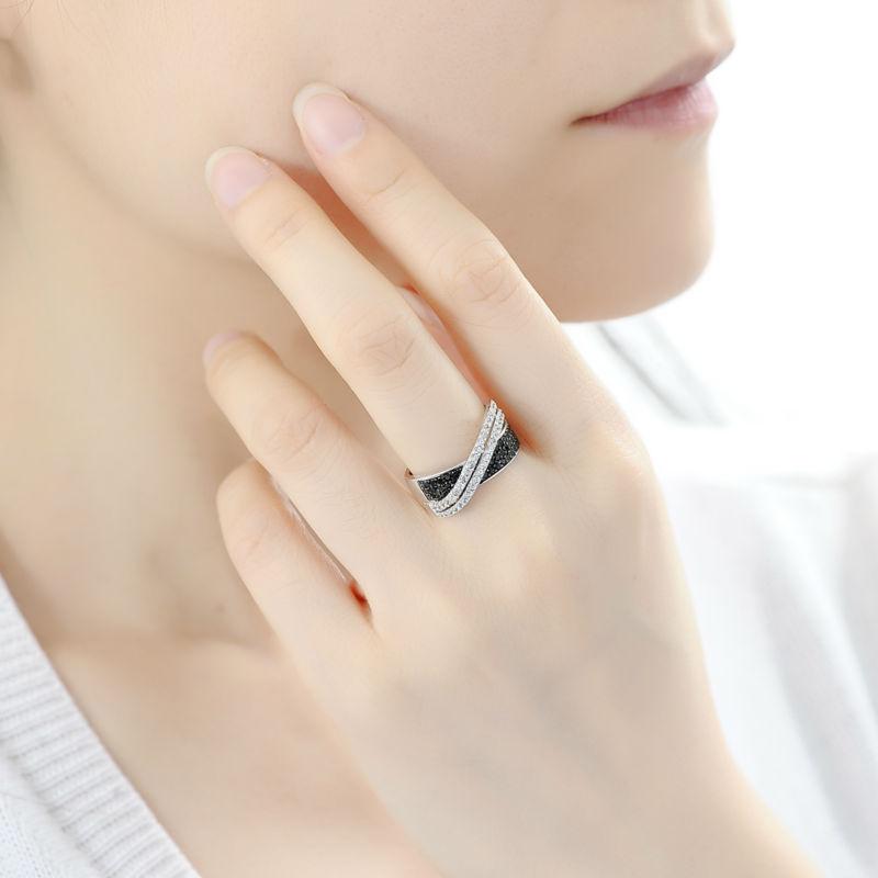 SANTUZZA Sølvring til kvinder 925 Sterling Sølv Fashion Runde Ringe - Mode smykker - Foto 6