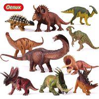 Oenux оригинальный Доисторический Юрского периода травоядные динозавры серии подвижная фигурка-модель игрушка динозавр Юрского периода фиг...