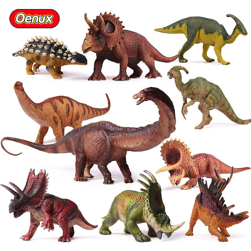 Oenux Original Prehistoric Jurassic Herbivorous Dinosaurs Series Model Action Figure Toy Jurassic Dinosaur Figurines Kids Toys oenux prehistoric jurassic tyrannosaurus rex spinosaurus t rex dinossauro world model savage dinosaurs action figure toy for kid