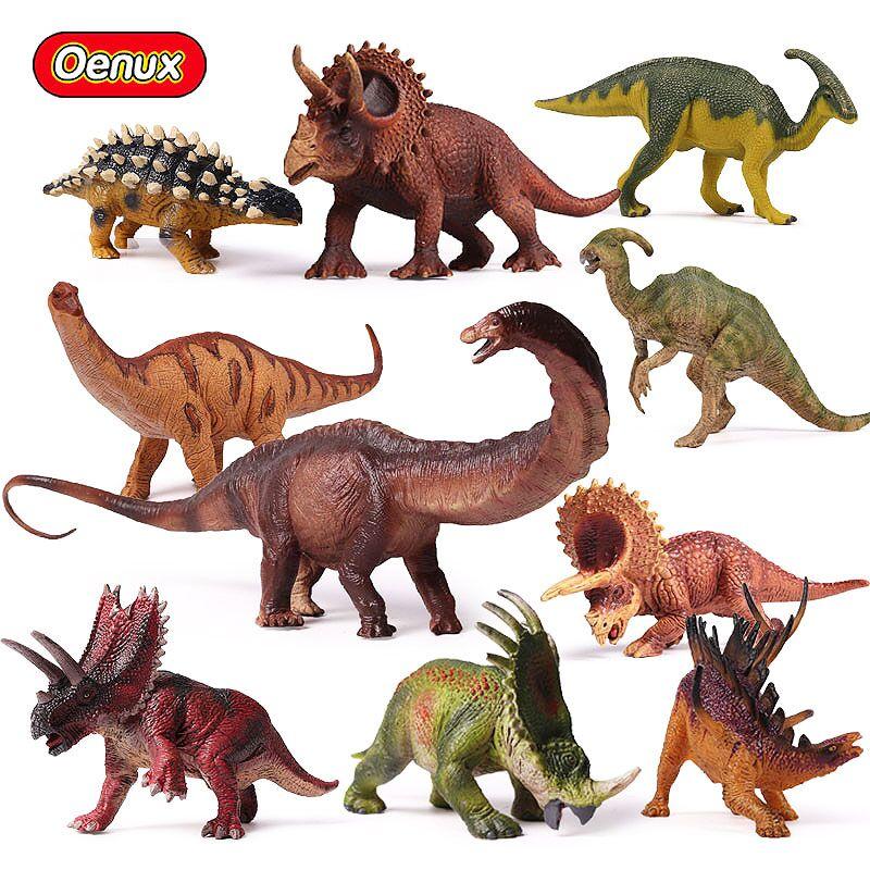 Oenux Original Prehistoric Jurassic Herbivorous Dinosaurs Series Model Action Figure Toy Jurassic Dinosaur Figurines Kids Toys