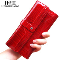 HH Luxury Women Wallets Patent Leather High Quality Designer Brand Wallet Lady Fashion Clutch Casual Women