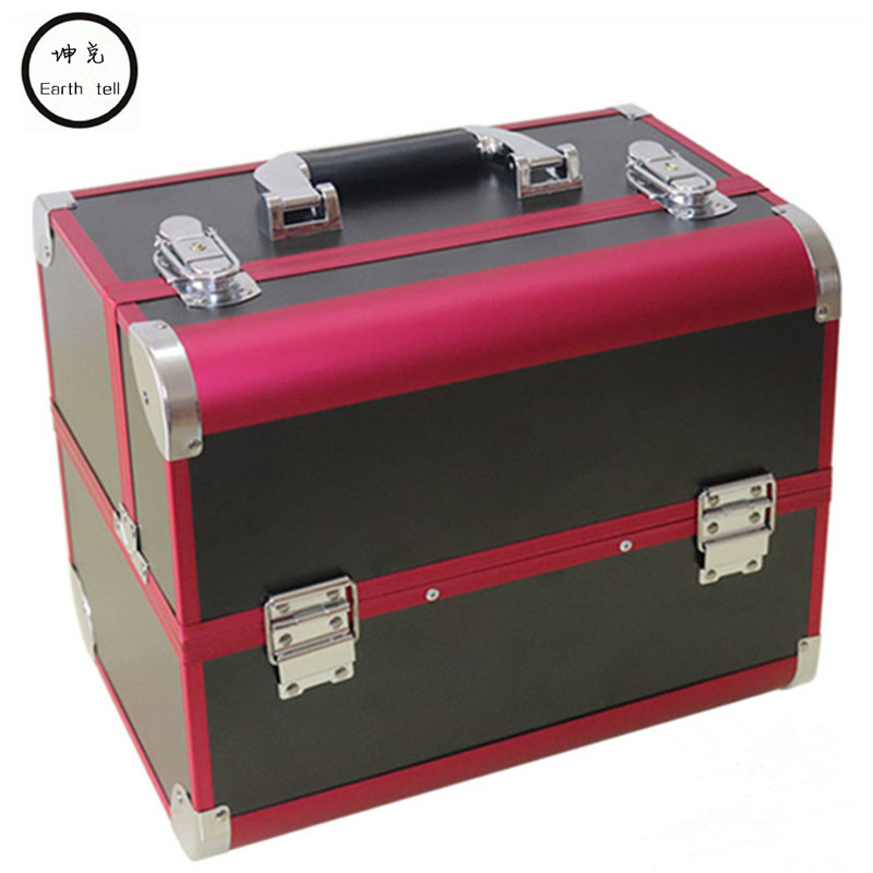 Aluminum frame cosmetic bag suitcases makeup beauty professional multi function cosmetology tattoo eyebrow travel manicure case portable cosmetic bag suitcases makeup beauty professional multi function cosmetology tattoo eyebrow teacher manicure case