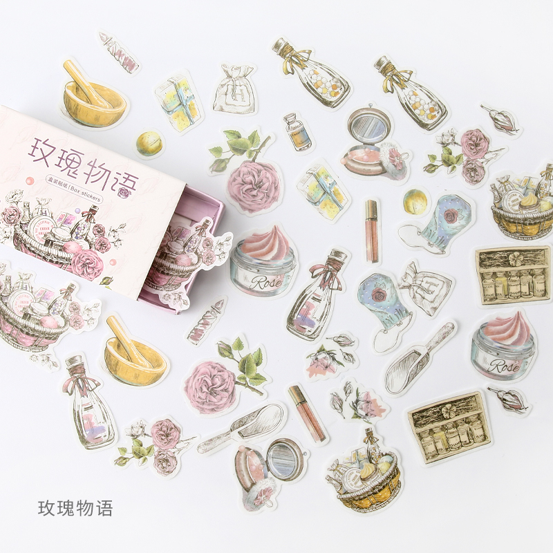 Rose Story Flower Bullet Journal Decorative Stationery Stickers Scrapbooking DIY Diary Album Stick Lable
