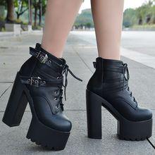 518b01ee3d Outono nova alta-salto alto sapatos 14 cm calcanhar super alta das mulheres  aumentou sapatos único boate passarela saltos altos