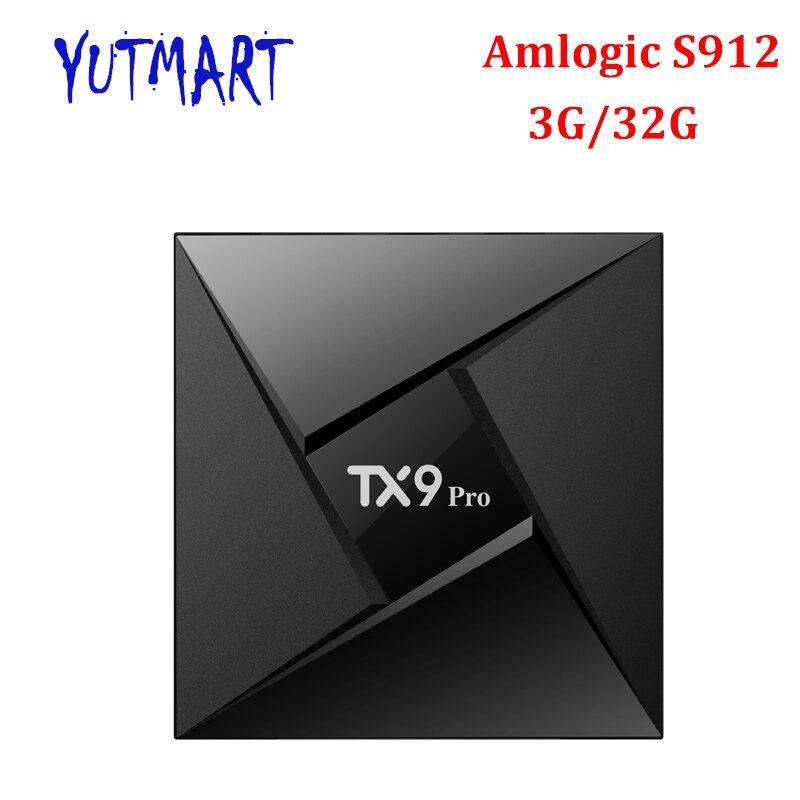 TX9 Pro TV Box Amlogic S912 Octa core Set top TV Box Android 7 1