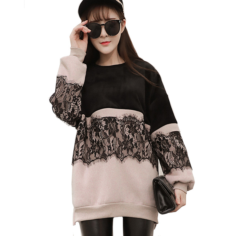 Maternity Tops 2019 Fashion Sweatshirt Lace Nursing T-Shirt Winter Spring Breastfeeding Clothes For Pregnant Women B0059
