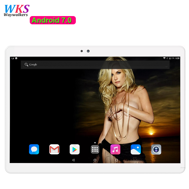 Free shipping 10 inch 3G 4G Lte Tablet PC 10 Core 4GB RAM 64GB ROM Dual SIM Card Android 7.0 IPS Bluetooth GPS tablets pcs 10.1 free shipping 11 6 inch ips screen 1366 768 intel i5 cpu dual core windows xp tablet pc 4g lte tablet pc with gps function