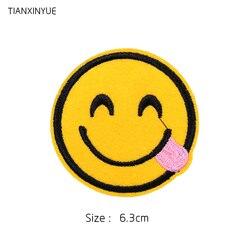 TIANXINYUE Marque Patches 20 pcs/lot Rose Sourire patch fer sur la correction Motif coudre sur fer sur Applique DIY accessoire