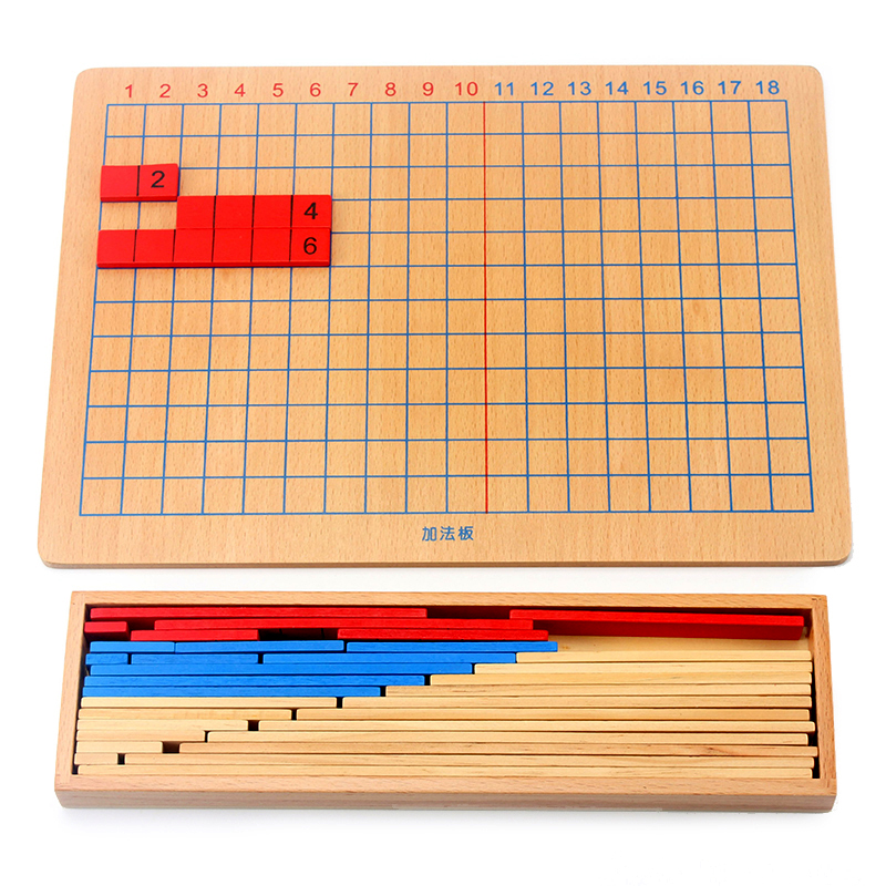 Free Shipping Montessori Addition Subtraction Strip Board Math Toys for Early Childhood Educational Preschool Kids Math Toys