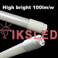 Высокий яркий светодиодный T8 стеклянной трубки 10 Вт 600 мм 85 265 В Прозрачный Прозрачная крышка молочный покрова светодиодные лампа Светодиод