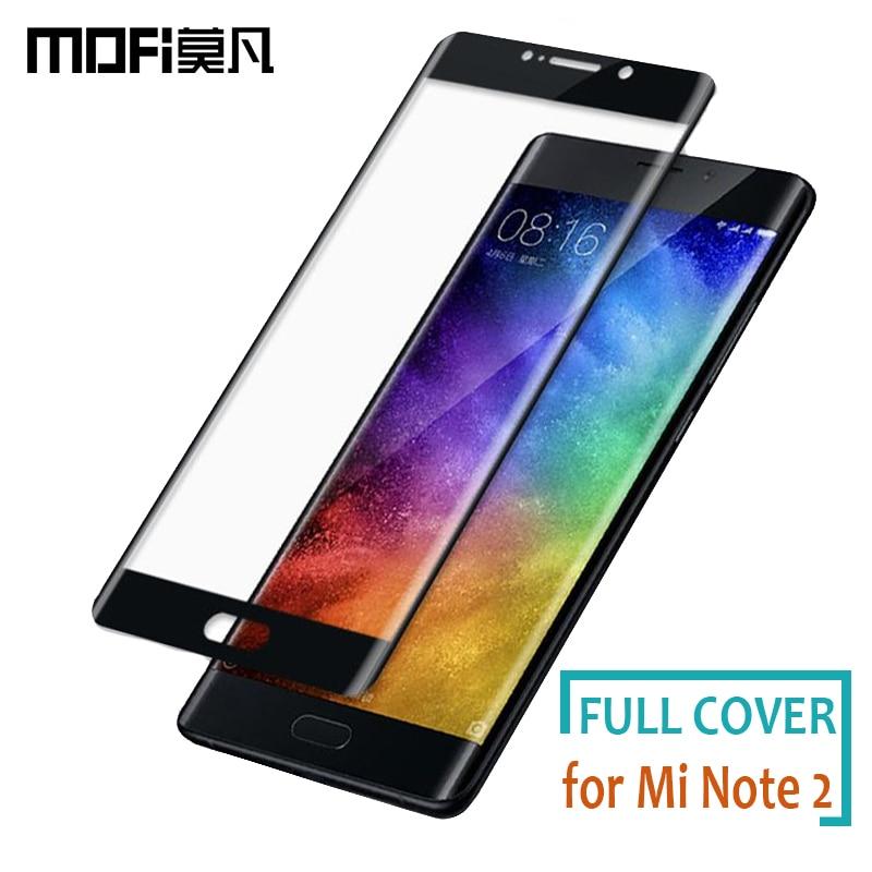 Pour Xiaomi Mi Note 2 Verre Mofi Pleine Couverture En Verre Trempé Protecteur d'écran pour Xiaomi Mi Note 2 3D Bord Incurvé De Protection verre