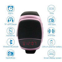 New Multifunctional Wireless Bluetooth TF card playing Watch+Subwoofer Speaker Outdoor Portable Sport Watch with call function