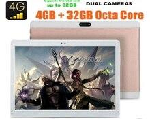 Envío Libre 10 pulgadas tablet android 6.0 Octa Core 4G LTE FDD 4 GB RAM 64 GB ROM 8 Núcleos 1920×1200 8.0 M Dual Tarjetas SIM GPS tabletas