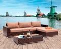 2017 The Best Sale Garden Rattan Furniture Vancouver Wicker Corner Sofa Set