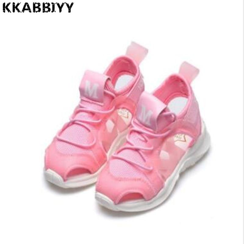 Summer Boy Sandals Soft Bottom Hook & Loop Childrens Beach Shoes Super Light Girls Beach Sandals Baby Flat Shoes