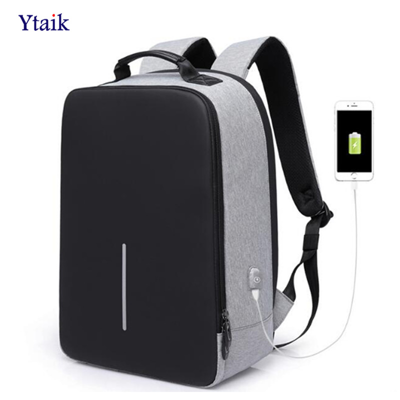 YTAIK Men's Oxford Laptop Backpack Anti-theft External USB Charging Interface Backpack School Travel Backpack 16 inches 15 6 17 inches man multi functional backpack external charging usb laptop backpack anti theft students waterproof travel bags