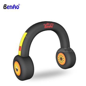 Hot sale inflatable headphones, inflatable headset arch model for advertising or events,promotional replica inflatable earphone