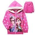 Algodão Princesa Mangas Compridas Outerwear Crianças Hoodies para Meninas dos desenhos animados Vestir Casaco Com Capuz Quente Dos Desenhos Animados Hoodies & Camisolas Casacos