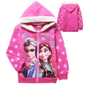 Cartoon Cotton Princess Long Sleeves Outerwear Children Hoodies for Girls Wear Hoody Warm Cartoon Hoodies & Sweatshirts Coats