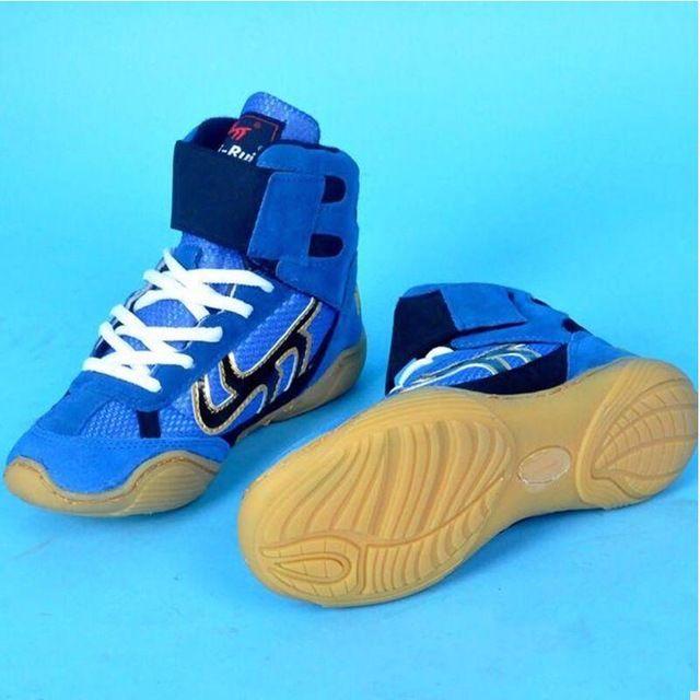 Sport & Unterhaltung Gehorsam Wrestling Schuhe Gummi Laufsohle Atmungsaktive Boxing Wrestling Stiefel Ausbildung Kampf Kampf Turnschuhe Plus Größe 033002