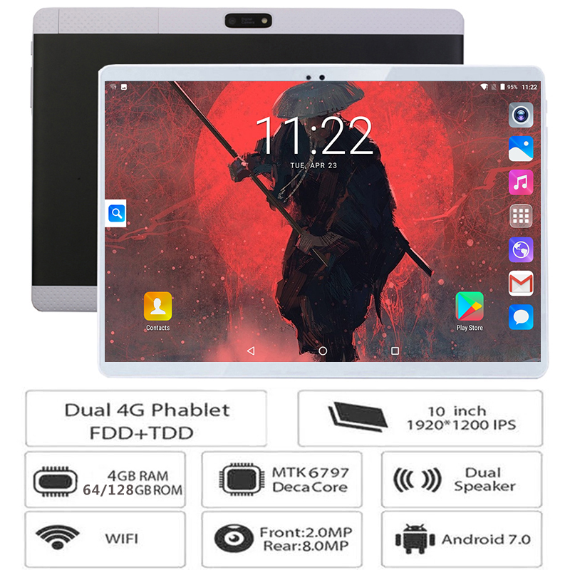 2018 New 10 inch 3G 4G LTE Tablets Deca Core Android 7 0 RAM 4GB ROM