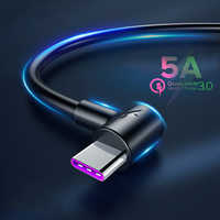 5A USB Type C Cable For Huawei P30 Pro P20 Mate 20 Fast Charging Type-C USB C Cable For Samsung S10 S9 Xiaomi USBC Super Charger