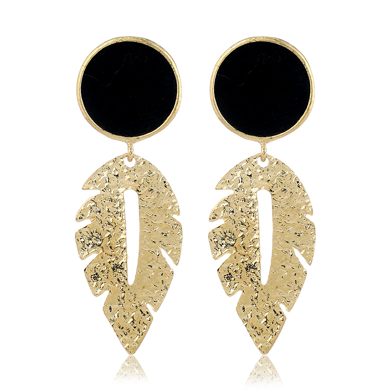 Luxury Beautiful Girls Earrings Fashion Leopard Leaf Drop Earrings Jewellry For Women Charm Jewelry Valentines Day Gift