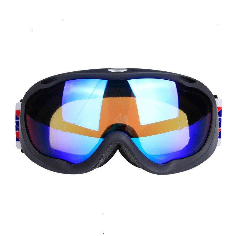 Profesional de adultos gafas de esquí lente doble capa anti-vaho anti-polvo resp