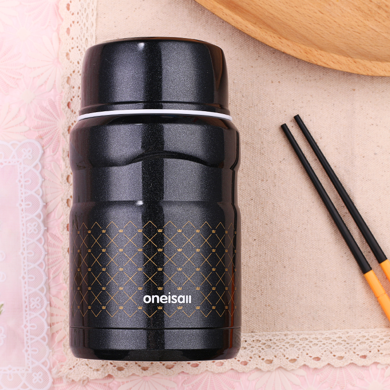 500ml Lunch Pail Thermos Food Container Stainless Steel Jar Lunch Box With Bag Dinnerware Vacuum Insulated