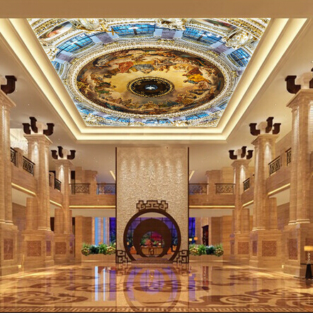 Large Customized 3d ceiling wall murals European style mural backdrop ceiling photo mural wallpaper 3d wall mural SISTINE CHAPEL large blue sky cloud mural 3d ceiling mural wallpaper for walls living room hall 3d wall ceiling murals 3d wall paper sticker