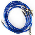 HK* Universal 5 Points Earth System Grounding Ground Wire Cable Kit Auto High Performance Blue