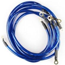 HK * Универсальный 5 баллов земли Системы заземления Провода кабель комплект авто высокая производительность синий